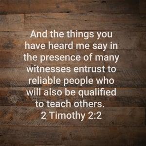 2 Timoty 2 2