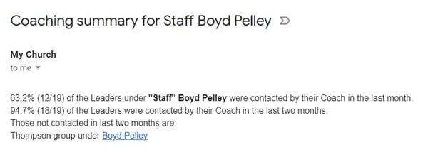 Staff Coach Summary